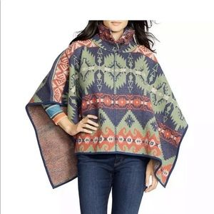 Ralph Lauren Southwestern Wool Poncho Cape